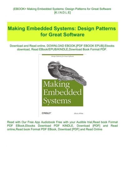 Ebook Making Embedded Systems Design Patterns For Great Software K I N D L E