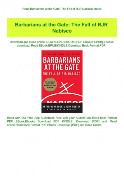barbarians at the gate free ebook download