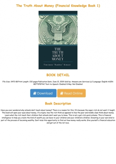 The Truth About Money PDF Free Download
