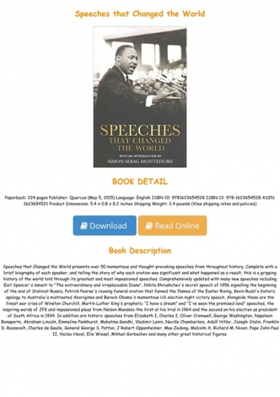 Read Pdf Books Speeches That Changed The World Full Online