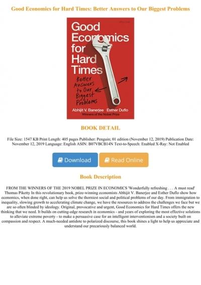 Good economics for hard times pdf free download pdf