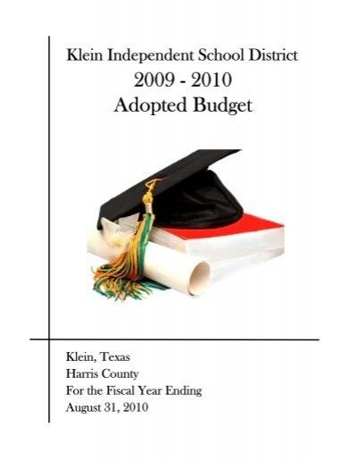 Klein Isd Calendar 2022 23.2009 2010 Klein Independent School District