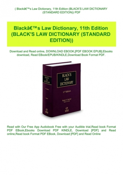 blacks law dictionary 11th edition pdf free download