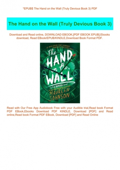 The Hand On The Wall Book Cover