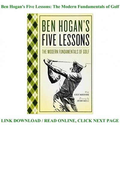 PDF @*BOOK Ben Hogan's Five Lessons: The Modern Fundamentals of ...