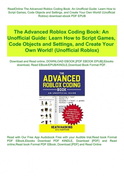 Readonline The Advanced Roblox Coding Book An Unofficial Guide