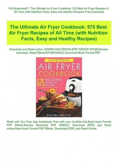 Ultimate Air Fryer Cookbook 575 Best