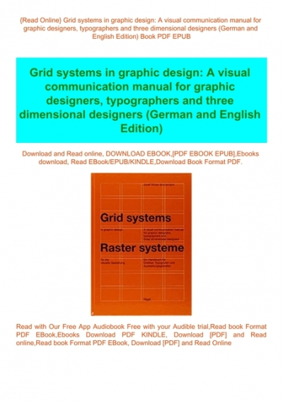 Read Online Grid Systems In Graphic Design A Visual Communication Manual For Graphic Designers Typographers And Three Dimensional Designers German And English Edition Book Pdf Epub