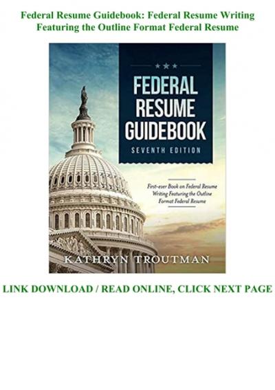 Pdf Online Federal Resume Guidebook Federal Resume Writing