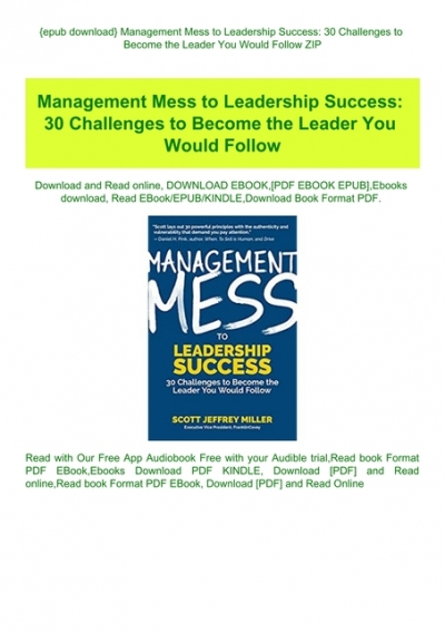 What successful people know about leadership pdf free download pdf