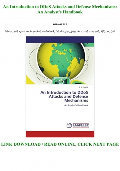 Free Download An Introduction To Ddos Attacks And Defense