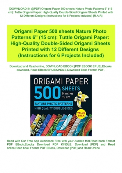 Instructions for 6 Projects Included Origami Paper 500 sheets Japanese Washi Patterns 6 Double-Sided Origami Sheets  with 12 Different Designs 15 cm : High-Quality