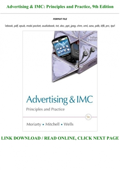 E Book Download Advertising Imc Principles And Practice 9th Edition Full Pdf Online