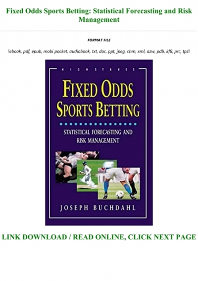 fixed odds sports betting pdf to excel