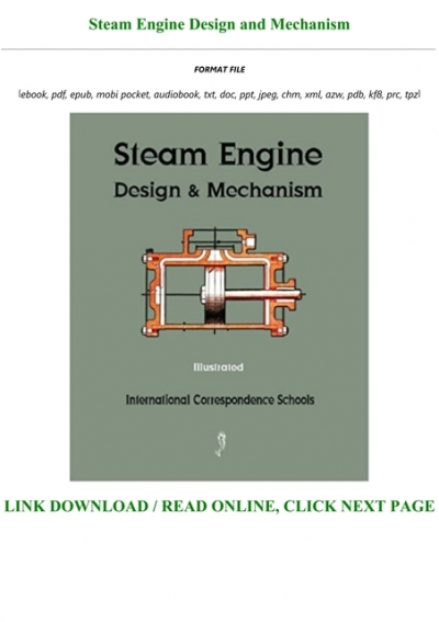 Get Pdf Steam Engine Design And Mechanism Full Online