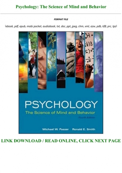 Free Download Psychology The Science Of Mind And Behavior Full Pdf