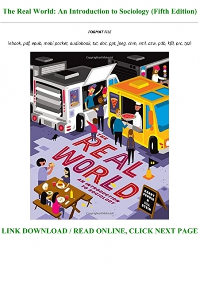 Read Book Pdf The Real World An Introduction To Sociology Fifth Edition Full Audiobook