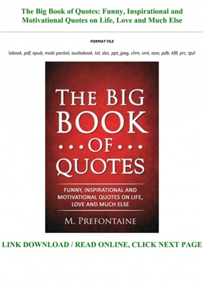 The Big Book Of Quotes F