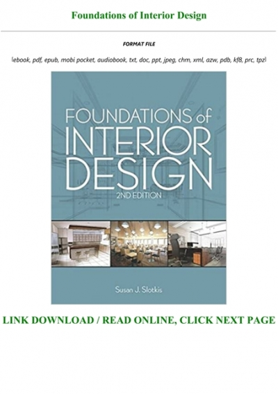 Download In Pdf Foundations Of Interior Design Full Online