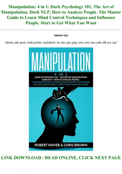 The Best Manipulation And Dark Psychology Audiobook Download  JPG