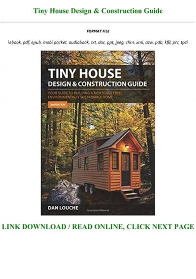 D O W N L O A D E Book Tiny House Design Construction Guide Pre Order