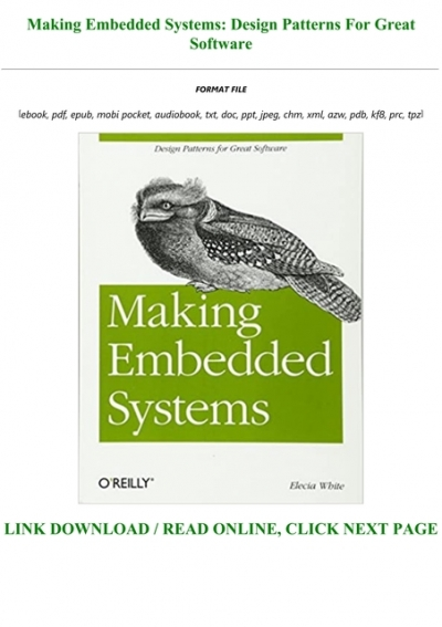 Pdf Epub Making Embedded Systems Design Patterns For Great Software Full Audiobook