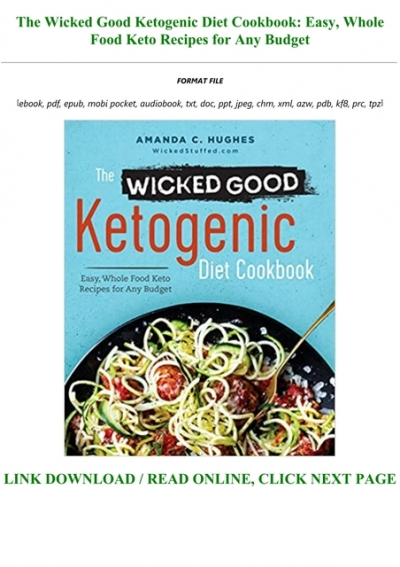 the wicked ketogenic diet cookbook pdf