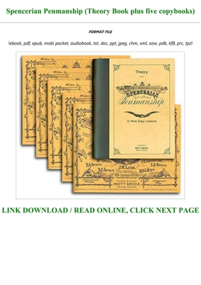 P D F Download Spencerian Penmanship Theory Book Plus Five Copybooks Full