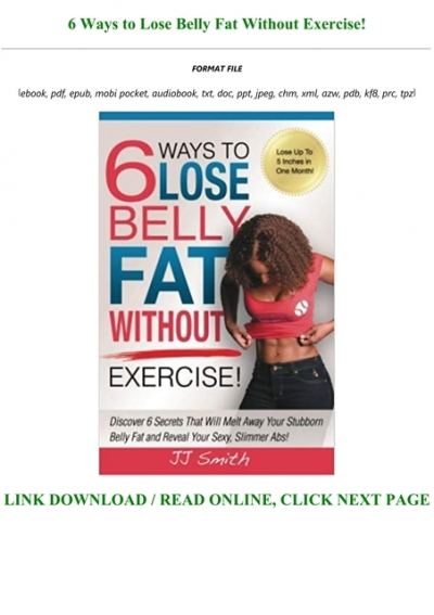 Ebook Reading 6 Ways To Lose Belly Fat Without Exercise Full Audiobook