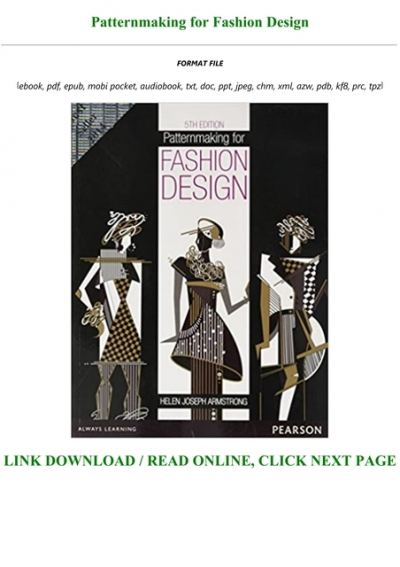 Pdf Patternmaking For Fashion Design Txt Pdf Epub
