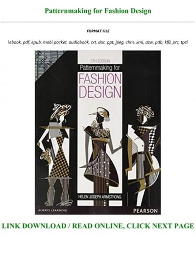 Pdf Patternmaking For Fashion Design Txt Pdf Epub