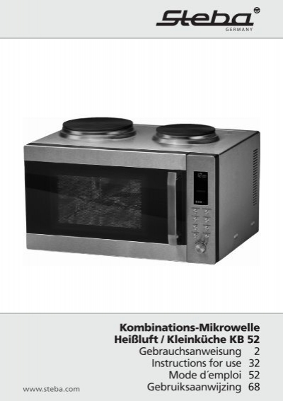 kombinations-mikrowelle heißluft / kleinküche kb 52  - steba
