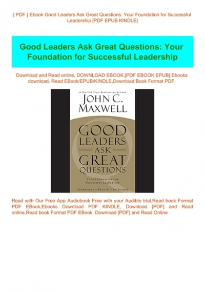 What Successful People Know About Leadership PDF Free Download