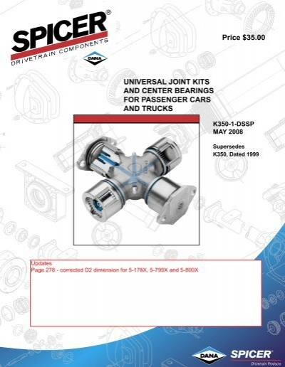 Spicer 5-6000X Power Train Components Dana Universal Joint