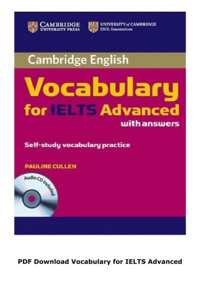 Ielts vocabulary book