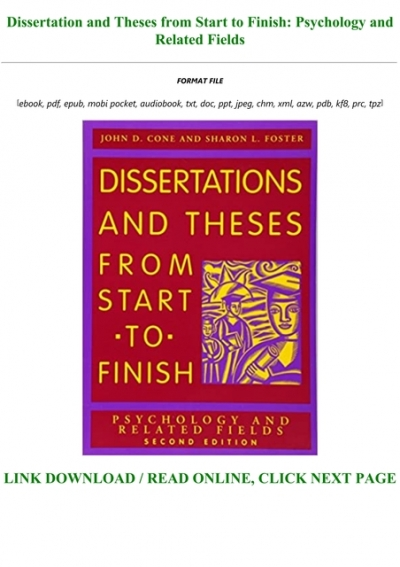 Dissertations and theses from start to finish download professional article review editing websites for phd