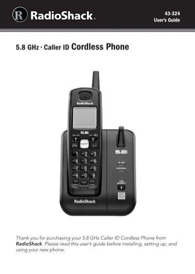 radioshack 58 ghz cordless phone manual open source user manual u2022 rh userguidetool today Old Cordless Phone Radio Shack Phone Headsets