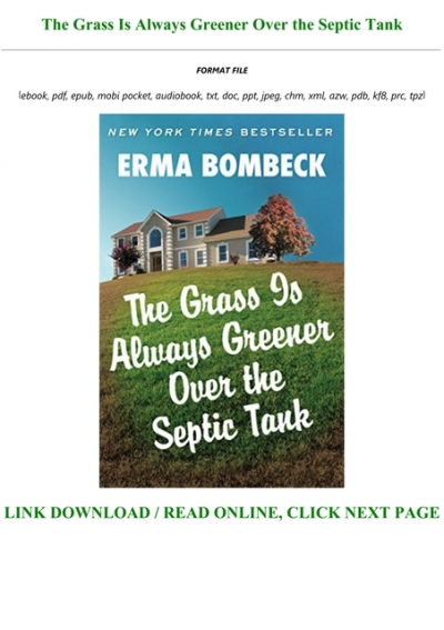 E Book F R E E The Grass Is Always Greener Over The Septic Tank For Any Device