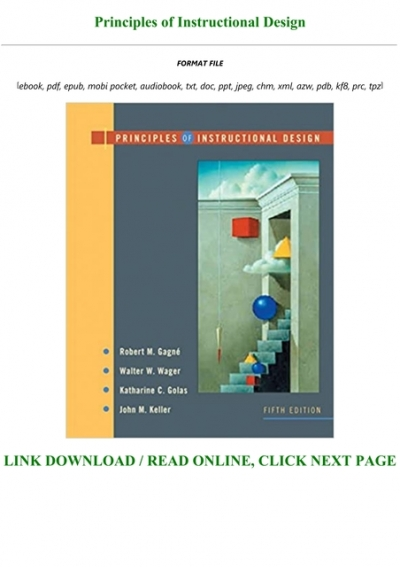 Download Pdf Principles Of Instructional Design Full Acces