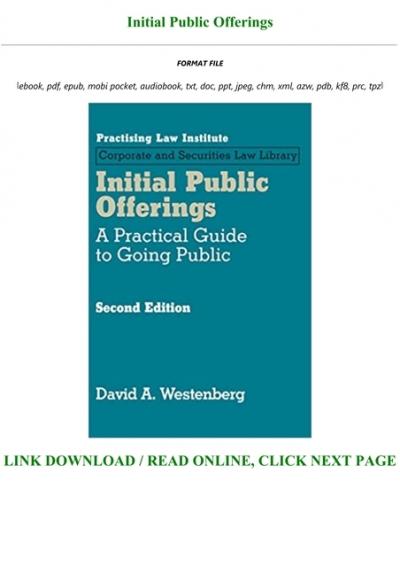 download ebook initial public offerings [full]  yumpu