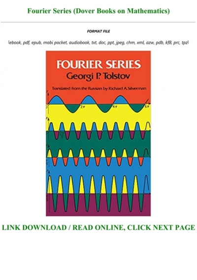 Pdf Download Fourier Series Dover Books On Mathematics For Any Device