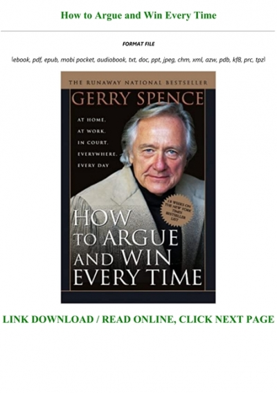 Free Download How To Argue And Win Every Time Full Acces