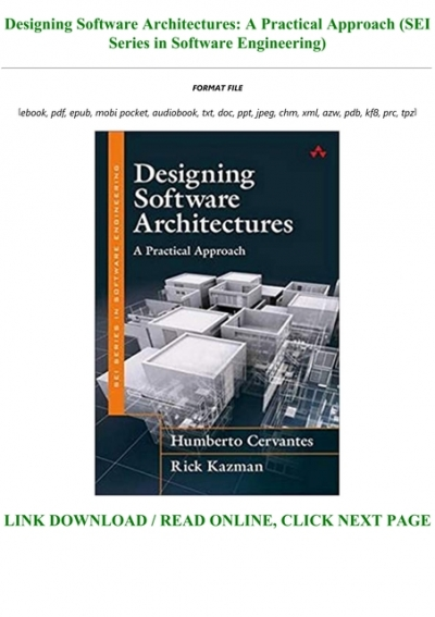 Pdf Download Designing Software Architectures A Practical Approach Sei Series In Software Engineer
