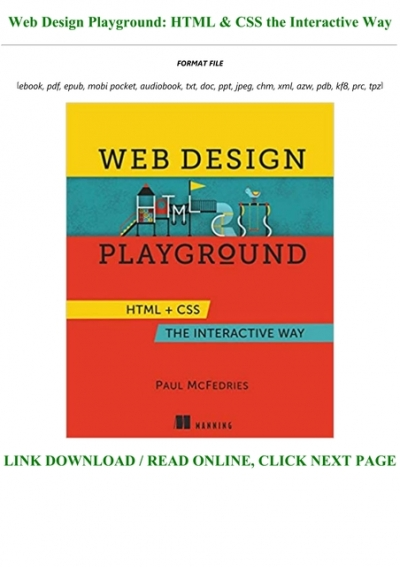 Pdf D O W N L O A D Web Design Playground Html Css The Interactive Way Full Acces