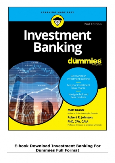 Investment banking for dummies epub format forex cargo reviews
