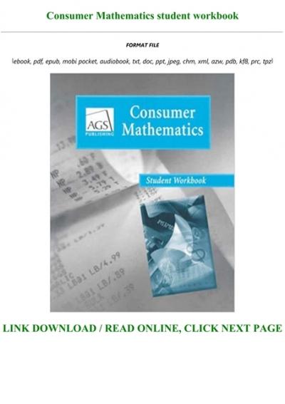 Download Ebook Consumer Mathematics Student Workbook Full Ags consumer math worksheets pdf