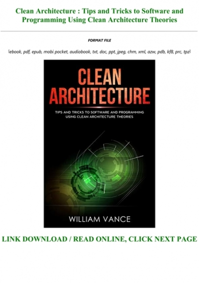 Read Book Clean Architecture Tips And Tricks