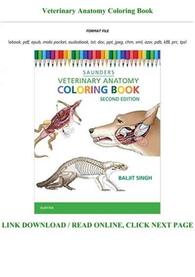 Download !PDF Veterinary Anatomy Coloring Book Pre Order