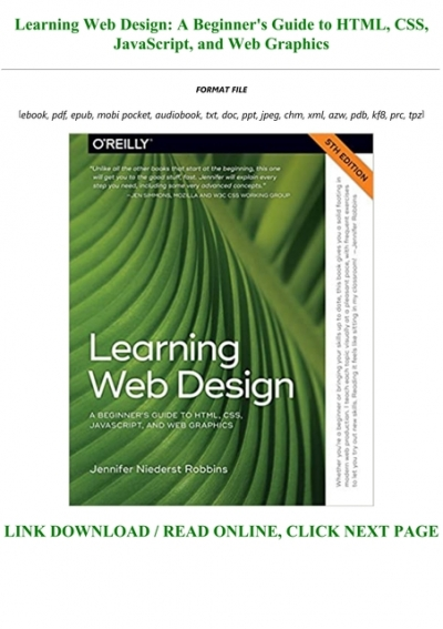 E Book Download Learning Web Design A Beginner S Guide To Html Css Javascript And Web Graphics Full