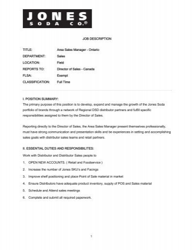 Job title Sales ManagerDirector Location Sao TradeDoubler – Sales Director Job Description